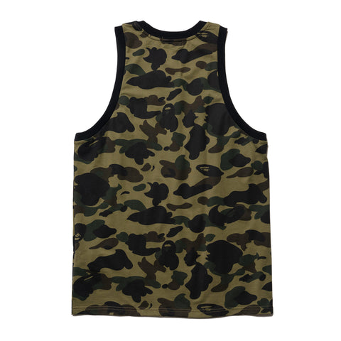 A Bathing Ape One Point Tank Top Green, T-Shirts