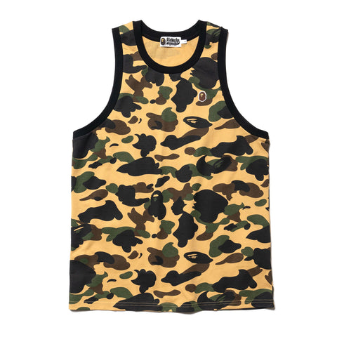 A Bathing Ape One Point Tank Top Yellow, T-Shirts