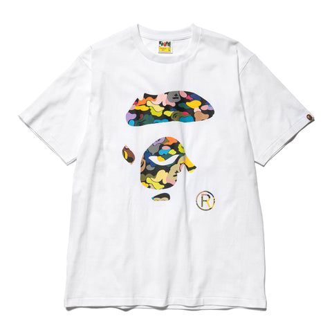 A Bathing Ape Multi Camo Ape Face Tee White, T-Shirts