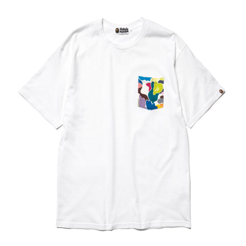 A Bathing Ape Relaxed Multi Camo Pocket Tee White, T-Shirts