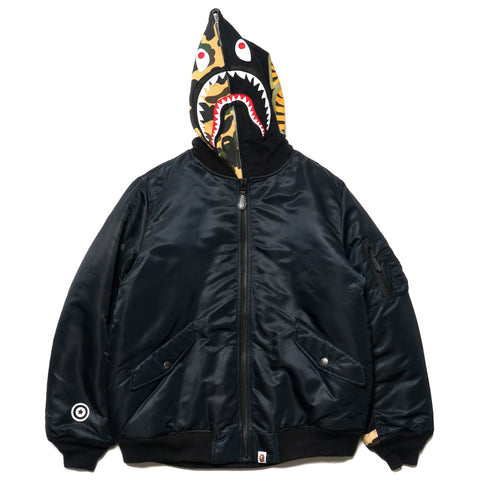 A BATHING APE Shark Hoodie MA-1 Black, Jackets