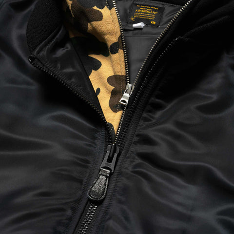 A BATHING APE Shark Hoodie MA-1 Black, Outerwear