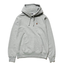 A BATHING APE Silicon One Point Pullover Hoodie Gray, Sweaters