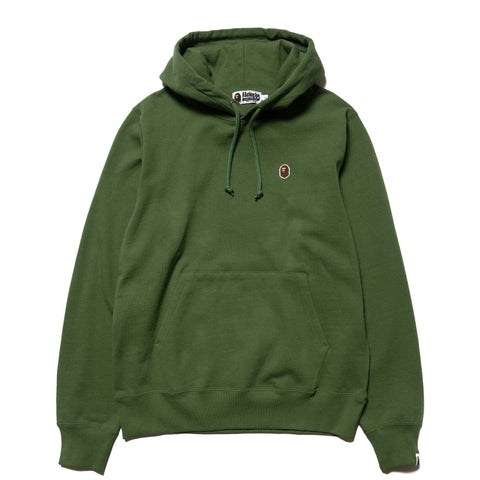 2952b9cbaff2 A BATHING APE Silicon One Point Pullover Hoodie Olive Drab