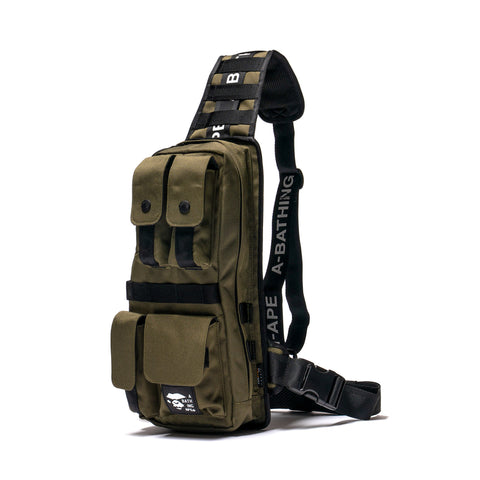 A BATHING APE Cordura Tactical Vest Bag Olive Drab, Vests