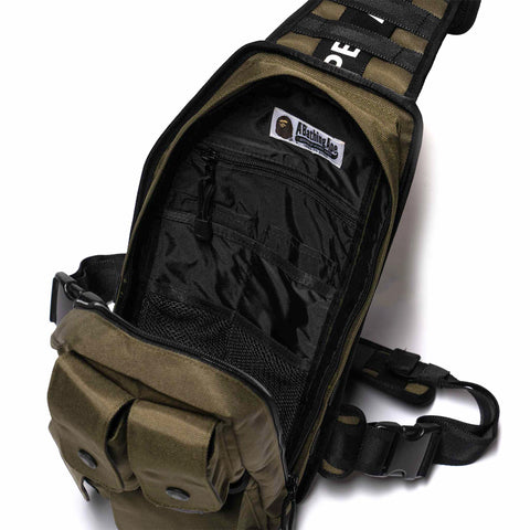A BATHING APE Cordura Tactical Vest Bag Olive Drab, Outerwear