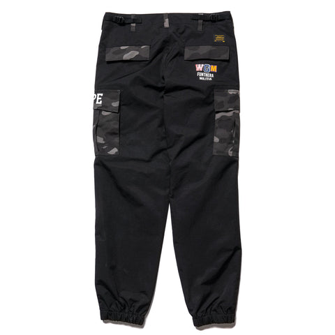 A BATHING APE Tiger Shark 6Pocket Jogger Pants Black, Bottoms