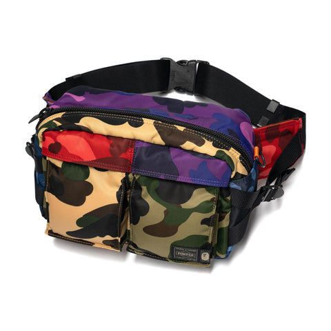 A Bathing Ape x Porter Mix Camo Waist Bag Multi, Bags