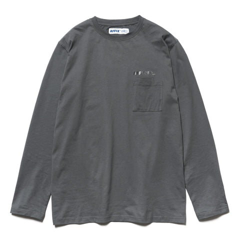 AFFIX Double Chest Pocket LS T-shirt Utility Gray, T-Shirts