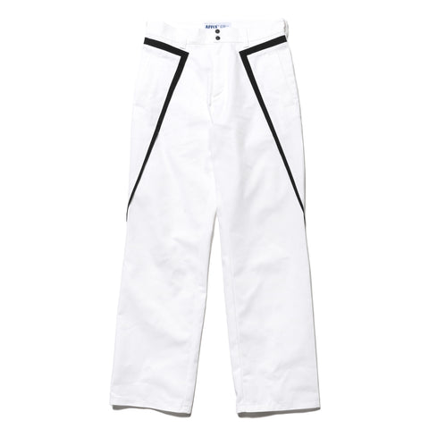AFFIX Public Service Pant White/Black, Bottoms