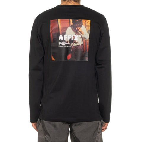 AFFIX Radio Long Sleeve T-Shirt Black, T-Shirts