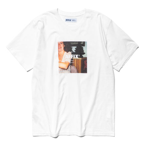 AFFIX Short Sleeve Radio T-Shirt 01 White, T-Shirts