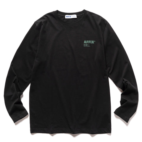 AFFIX Standardised Logo Long Sleeve T-Shirt Black, T-Shirts