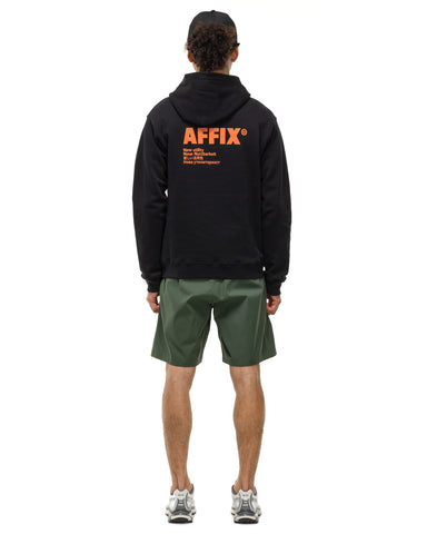 AFFIX Standardised Logo Hoodie Black/ Orange, Sweaters