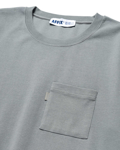 AFFIX Standardised Logo Pocket T-Shirt Silver Gray, T-Shirts