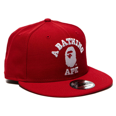 A BATHING APE 1st Camo Bape Snap Back Cap Red 49c671ba685