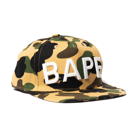 A Bathing Ape BAPE 1st Camo Bape Snap Back Cap YELLOW