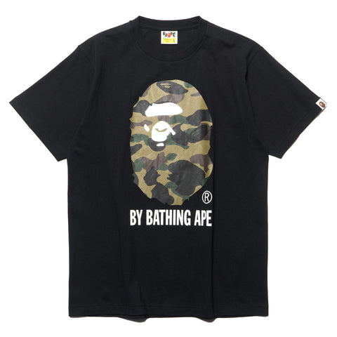 a bathing ape 1st Camo By Bathing Tee Black x green
