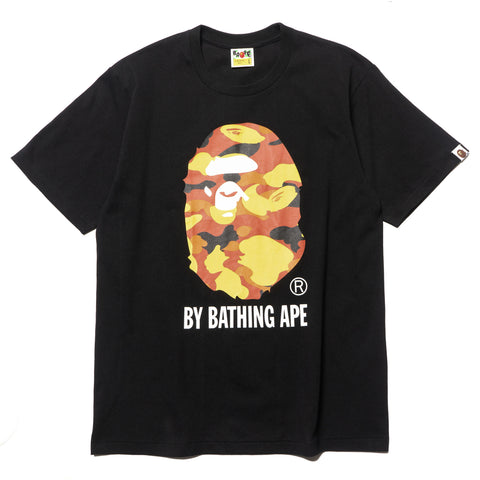 a bathing ape 1st Camo By Bathing Tee Black x orange