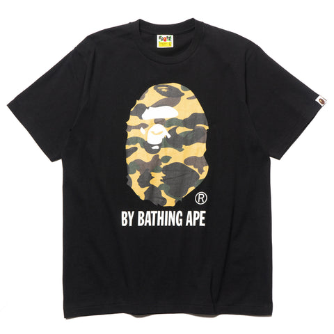 a bathing ape 1st Camo By Bathing Tee Black x Yellow
