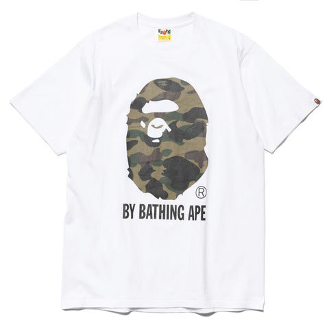 a bathing ape 1st Camo By Bathing Tee white x green