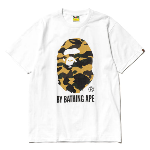 A Bathing Ape 1st Camo By Bathing Tee White x Yellow, T-Shirts