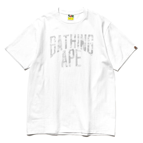 A BATHING APE ABC Dot Reflective NYC Logo Tee White, T-Shirts