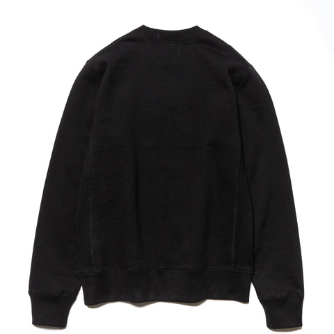 A BATHING APE College Heavy Weight Crewneck Black, Sweaters