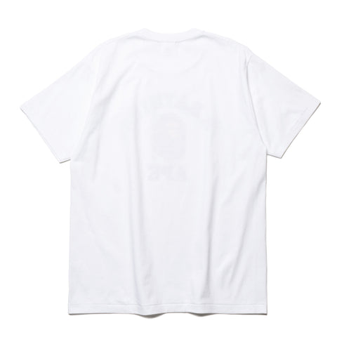a bathing ape College Tee white