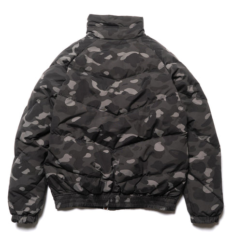 a bathing ape Color Camo Down Jacket Black