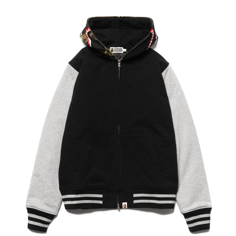 748fd616921cfd A BATHING APE Shark Sweat Varsity Jacket Black, ...