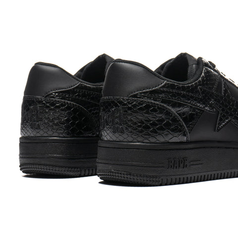 a bathing ape bape Snake Bape Sta Low M2 Black