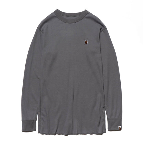 A BATHING APE Thermal LT Gray, T-Shirts