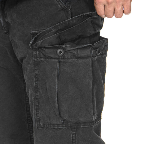 HAVEN Overdyed Cotton BDU Cargo Pant Black