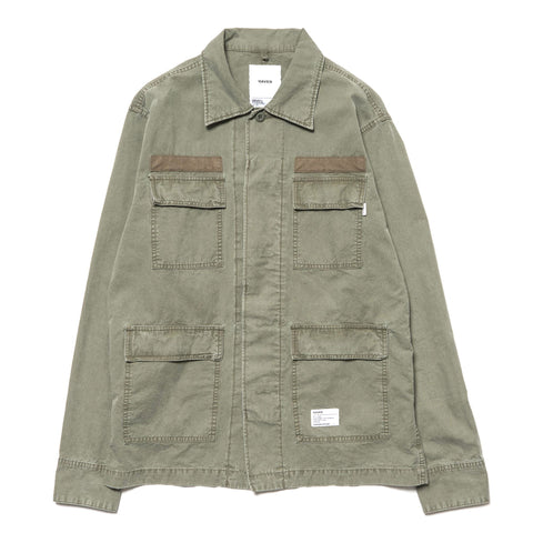 haven Overdyed Cotton BDU Shirt Olive