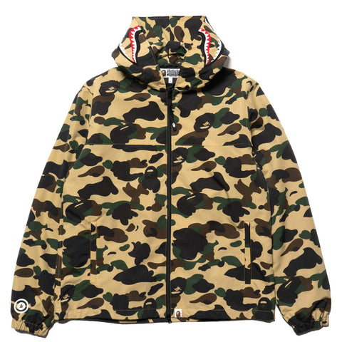 c3af4a654a654 a bathing ape BAPE 1st Camo Shark Hoodie Jacket YELLOW