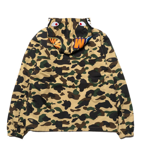 a bathing ape BAPE 1st Camo Shark Hoodie Jacket YELLOW