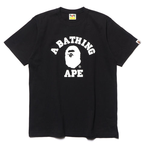 a bathing ape Bicolor College Tee Black