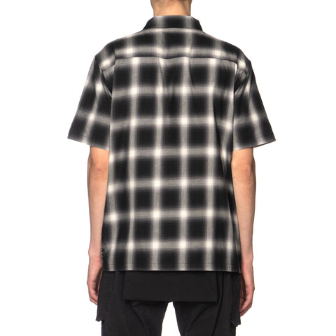 HAVEN Camp Shirt - Cotton Ombre Black x White, Tops