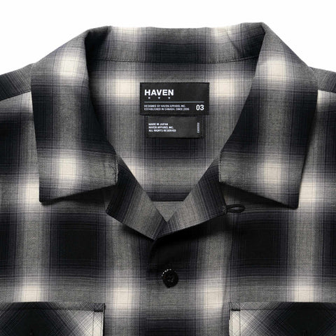 HAVEN Camp Shirt - Cotton Ombre Black x White, Shirts