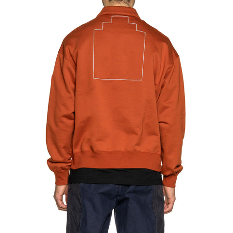 Cav Empt Collared Light Zip Sweat Brown, Sweaters