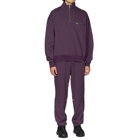 CAV EMPT Exterior Half Zip Sweat Purple, Sweaters
