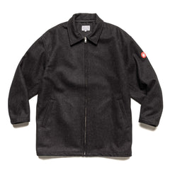 Cav Empt Heavy Wool Zip Jacket Black, Outerwear