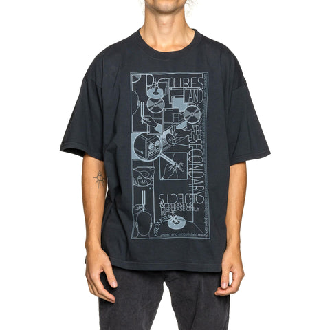 Cav Empt MD SecondaryObjects Big T Black, T-Shirts