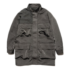 CAV EMPT Mid 4 Pocket Zip Coat Charcoal, Outerwear
