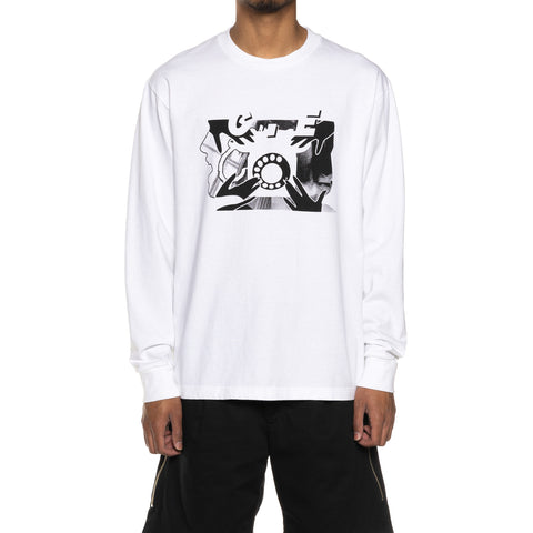CAV EMPT Rotary Dial Long Sleeve T White, T-Shirts