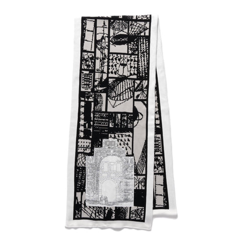 Cav Empt System Grid Knit Scarf Grey, Accessories