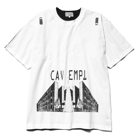Cav Empt Two Point Perspective Big T White, T-Shirts