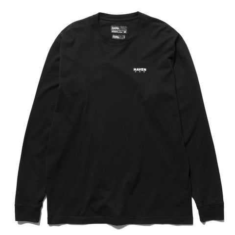 HAVEN Chest Logo - Long Sleeve T-Shirt Black, T-Shirts
