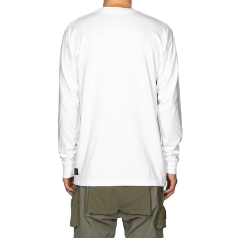 HAVEN Chest Logo - Long Sleeve T-Shirt White, T-Shirts